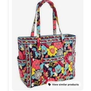 Vera Bradley Large Quilted Get Carried Away Tote Bag Happy Snails